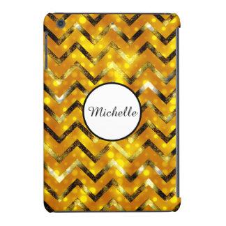 El brillo del brillo del oro bling el | funda de iPad mini