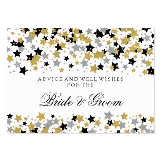 El brillo del oro de la tarjeta del consejo del tarjetas de visita grandes