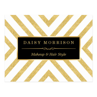 El brillo elegante moderno del oro raya el modelo postales