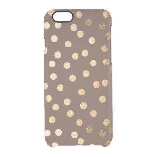 El brillo marrón del oro puntea la caja clara del funda clear para iPhone 6/6S