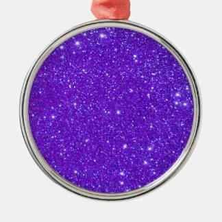 El brillo púrpura de la chispa crea sus los adorno redondo plateado