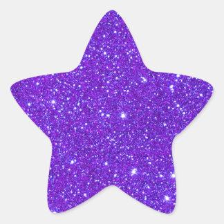 El brillo púrpura de la chispa crea sus los pegatina en forma de estrella