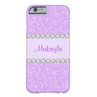 El brillo púrpura en colores pastel femenino funda para iPhone 6 barely there