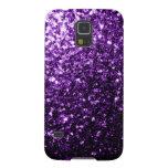 El brillo púrpura hermoso chispea caso de Samsung
