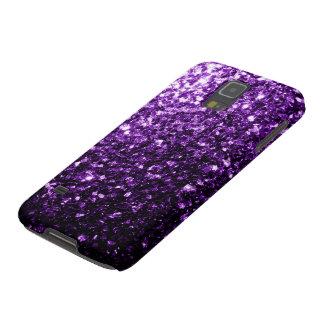 El brillo púrpura hermoso chispea caso de Samsung  Funda Para Galaxy S5