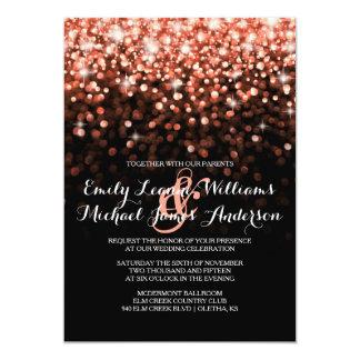 El brillo rosado chispea invitación elegante del invitación 12,7 x 17,8 cm