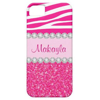 El brillo rosado de encargo chispea caso del iPhone 5 Case-Mate carcasa