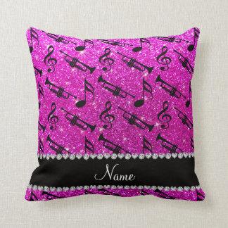 El brillo rosado de neón conocido de encargo toca almohada