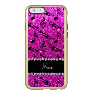 El brillo rosado de neón conocido de encargo toca funda para iPhone 6 plus incipio feather shine