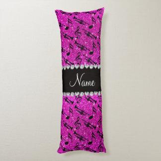 El brillo rosado de neón conocido de encargo toca almohada larga