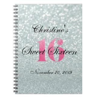 El brillo rosado enciende el libro de visitas del notebook