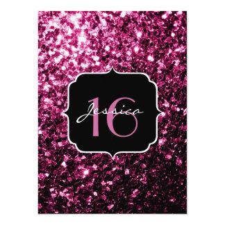 El brillo rosado hermoso chispea el dulce 16