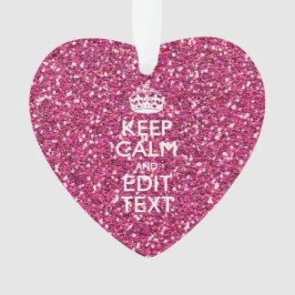 El brillo rosado personalizado GUARDA CALMA Y su