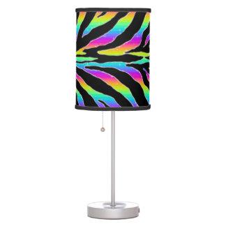El brillo salvaje de la cebra del arco iris raya lámpara de escritorio
