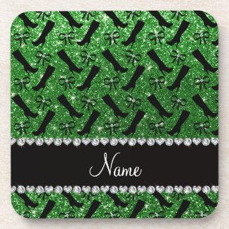 El brillo verde conocido personalizado patea arcos posavaso