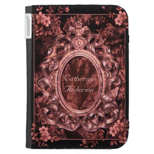 El brocado del rosa color de rosa enciende la caja