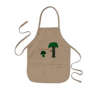 El bróculi es árboles del bebé delantal infantil
