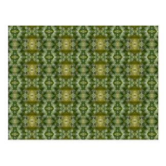 El bróculi florece el modelo verde abstracto tarjetas postales