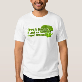 El bróculi fresco es camisetas desagradables playera