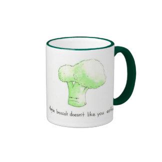 ¡El bróculi no tiene gusto quizá de usted tampoco! Taza De Dos Colores