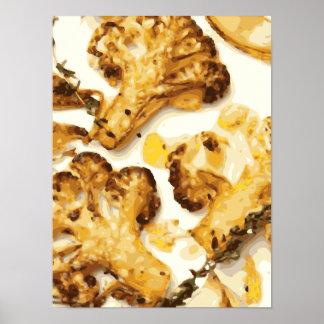 El bróculi y la coliflor sabrosos saltan impresiones