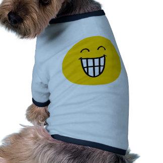 El bromear alrededor de cara sonriente camisa de perro