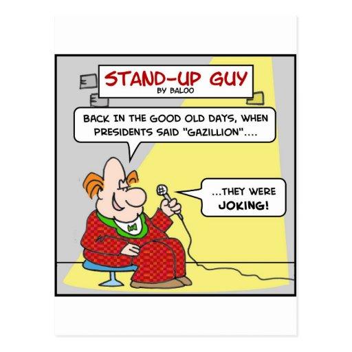 el bromear del gazillion de los presidentes del postales