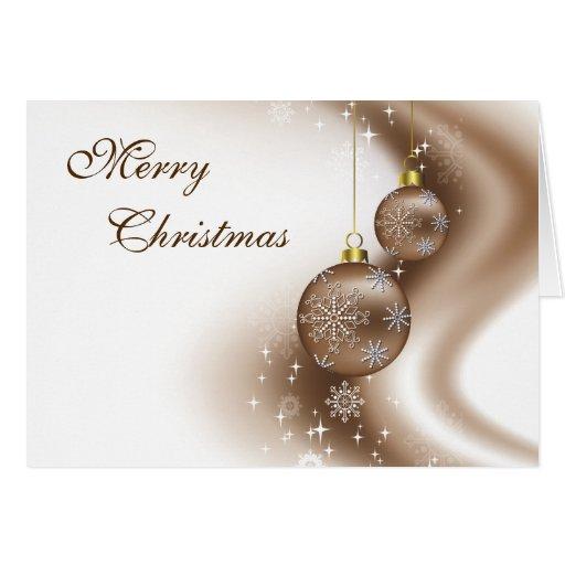 El bronce adorna la tarjeta de Navidad