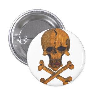 El bronce deshuesa el botón pin redondo de 1 pulgada