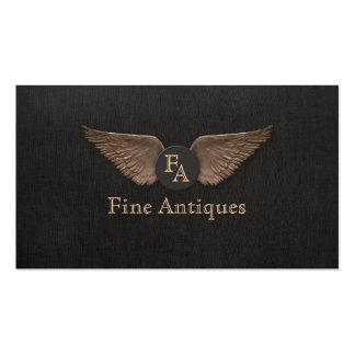 El bronce único del vintage se va volando negro tarjetas de visita
