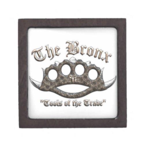 El Bronx - nudillos de cobre amarillo claveteados Caja De Joyas De Calidad