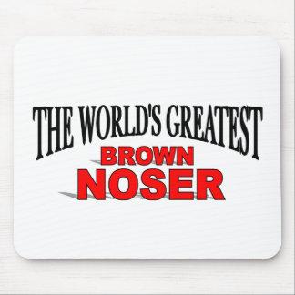 El Brown más grande Noser del mundo Mousepads