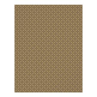 El brownie ajusta las páginas del papel del libro membretes personalizados