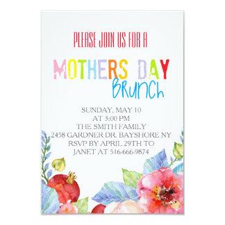 """El brunch colorido del día de madres de la invitación 3.5"""" x 5"""""""