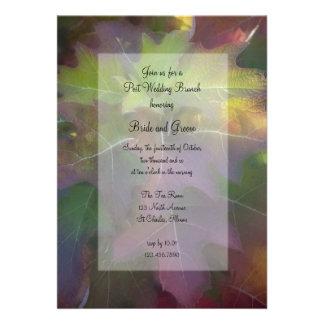 El brunch del boda del poste del Hydrangea de la h Invitación Personalizada