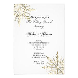 El brunch del boda del poste del invierno del copo comunicados