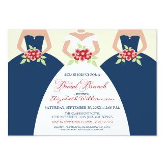 El brunch nupcial de la novia y de las damas de invitación 12,7 x 17,8 cm