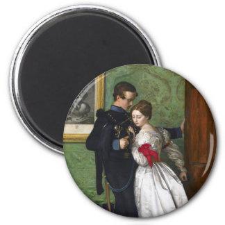 El Brunswicker negro de John Everett Millais Imán Redondo 5 Cm