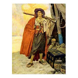 El Bucanero - arte del pirata Postales