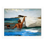 El buceador de la esponja de Winslow Homer Postal