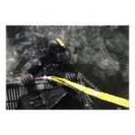 El buceador de la marina de guerra de los E.E.U.U. Impresiones Fotograficas