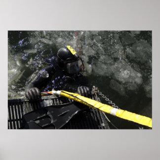 El buceador de la marina de guerra de los E.E.U.U. Póster