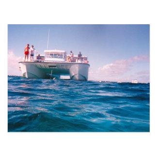 El bucear en la postal de Bahamas