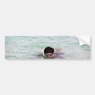 El bucear en las islas de Lakshadweep Etiqueta De Parachoque