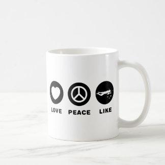 El bucear taza de café