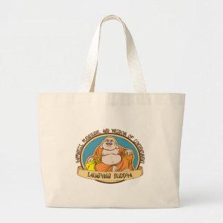 El Buda de risa Bolsa Tela Grande