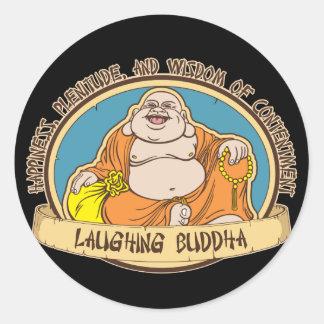 El Buda de risa Pegatina Redonda
