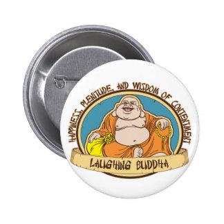 El Buda de risa Pin Redondo 5 Cm