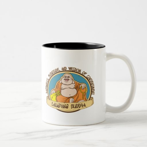 El Buda de risa Tazas De Café