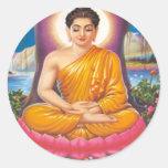 El Buda Etiqueta Redonda